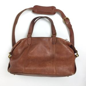 Madewell Brown Leather Crossbody Satchel